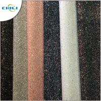 Quality Grade 3 Glitter Leather Fabric Style Mixed Attractive High Brightness for sale