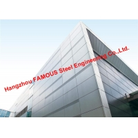 China 2200 Square Meters Aluminum Veneer Curtain Wall and Awning Exported To Oceania on sale