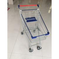 Quality Metal Wheeled Supermarket Shopping Carts With Safety Anti - UV Plastic Parts for sale