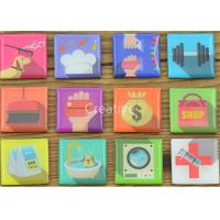 China Tourist Full color Printed Fridge Magnets Promotional 3D Square CE/ROHS wholesale