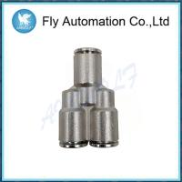 China Y Union Pneumatic Connector 6560 Series , Nickel Plated Brass Pneumatic Fittings on sale