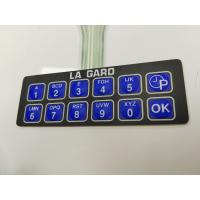 Customize Thin Film Membrane Switch Keyboard Twelve Key With 3M Adhesive