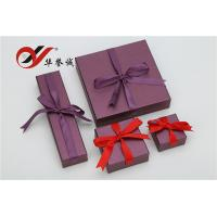 China Purple Special Paper Gift Box With Bowknot , Jewelry Gift Boxes For Necklaces wholesale
