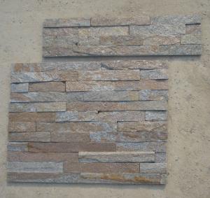 China Rustic Quartzite Z Stone Panel Natural Stone Cladding Quartzite Stone Veneer Fireplace Stacked Stone wholesale
