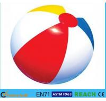 China Rainbow Inflatable Beach Ball 6 Panels Type Phthalate Free PVC Vinyl Material wholesale