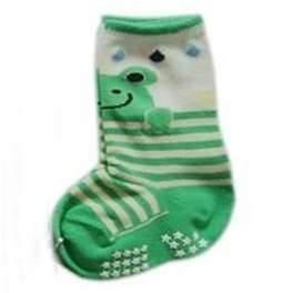 China Custom less deforming colorful baby Durable Animal head 100 cotton 3d anti slip socks wholesale