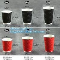 China Custom Disposable Striped Paper Cup Ripple Wall Paper Coffee Cups,Printed Disposable Coffee Paper Cup with Lid PACKAGE wholesale