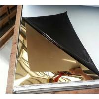 China Ti-Gold color mirror finish stainless steel sheet 201 304 316 430 grade wholesale