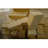 Pre - Formed Shaped Big High Alumina Block , Dry Pressed Kiln Refractory Bricks Manufactures