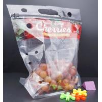 China fresh cherry tomato packaging bag, Fresh Fruit Preservative General Grape bag, Cherry Red Lift Sealed Packaging Bag on sale
