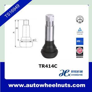 China Small Zinc Alloy Tire Valve Stem Tubeless TR414C For Passenger Car / Trucks wholesale