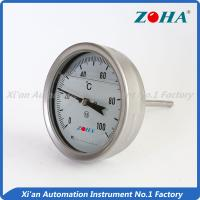 SS Shock Resistance Bimetal Dial Thermometer For Measuring Vibrated Gas