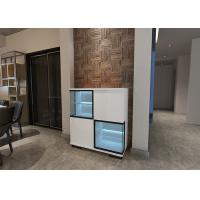 China Blue LED Light Modern Sideboard Cabinet with Glass and High Gloss Door wholesale