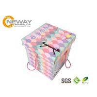 China Modern Decorative Paper Boxes / Flower Shipping Boxes With Art Paper For Party wholesale
