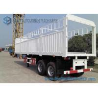 China Load Capacity 30 T 40 T Fenced Flatbed Semi Trailer , 2 axle Truck Length 10 m wholesale