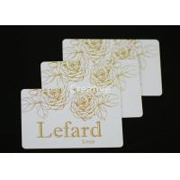 China Hot Stamping Rectangle Plastic Card Tags 0.76mm Double Side wholesale