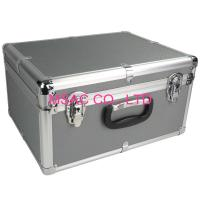 China Custom 5mm MDF Gray ABS Carrying Case With Foam , Aluminum Flight Case wholesale