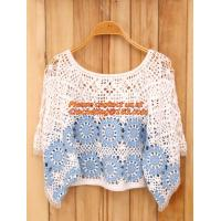 China Crocheted Lace Women Shirts For Dress Cover Up Casual Wearing Summer 2015 new Pull over wholesale
