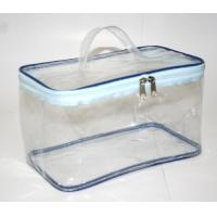 China Clear Transparent Makeup Bag , Waterproof Cosmetic Travel Bag With Handle wholesale