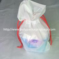 China Transparent PVC Vinyl Small Drawstring Pouch Bags Women'S Makeup Pouch wholesale