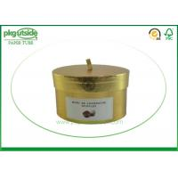 China Round Cardboard Candle Packaging Boxes With Lids Paper Tube Candle Holder on sale