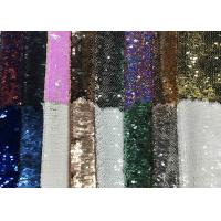 China Reversible Colorful Mermaid Sequin Fabric , Silver Sequin Material Custom Made wholesale