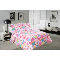 China Cake Pattern Printed Quilt Set Washable 240x260 / 260x280cm Bed Cover Sizes wholesale