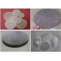 China Wire Mesh Filter Disc And Packs , Stainless Steel Nickel Material Discs Filters wholesale