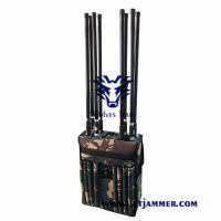 Buy cheap Backpack Portable 8 Antennas GPS WiFi 3G 4glte 4gwimax Mobile Phone Jammer from wholesalers