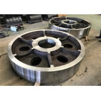 China Vacuum Casting Process Alloy Steel Casting Parts Alloy Steel Wheels For Port Machine wholesale