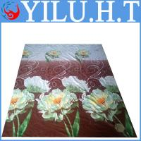 China cheap high quality 100% polyester flower printed peached brushed fabric for bedding blanket sheet set wholesale