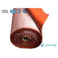 China 3mm Heat Insulation Silicone Fiberglass Fabric , Silicone Treated Fabric wholesale