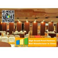 China Aluminum Frame Wooden Operable Partition Wall Soundproofing For Banquet Room wholesale