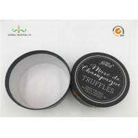 China White Cardboard Cylinder Containers For Facial Cream / Cosmetic Tube Packaging on sale