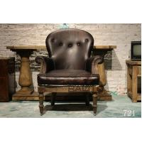China antique British old style leather chair sofa furniture,#721 wholesale