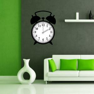 China Beautiful Alarm Clock Design Real Wall Sticker Clock / Wall Stickers 25A013 wholesale