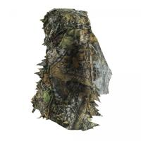 China Safety full Face Mask Surround Mesh With Elasticated Draw Cord Duck Hunting Face Mask 3D Leaf Face Hunting Mask wholesale