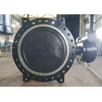 China DN1000 Flange Connection Double Offset Butterfly Valve , Cast Iron Metal Seated Butterfly Valves wholesale