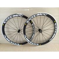 China OEM carbon alloy wheel clincher 50mm bicycle wheels with alloy braking surface on sale