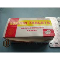 China GMP Certified Best Quality  B.P. Aspirin 500mg tablet, 10*10/box,  treat pain, and reduce fever or inflammation wholesale
