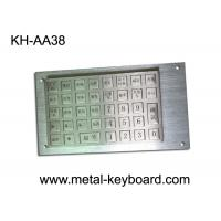 China Vandal Proof Rugged Stainless steel Keyboard with 38 Keys Charging Kiosk Keyboard wholesale
