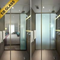 China bathroom glass partition frosted glass, Smart glass manufacturer EBGLASS wholesale