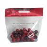 China Clear Fruit Packaging Bags Custom Printing 100% Biodegradable Plastic Handle Zipper Lock wholesale