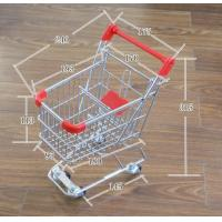 China Q195 Low carbon steel Retail Shop Equipment Metal grocery shopping cart on wheels wholesale