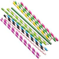 China Wood Pulp Waterproof Paper Straws Earth Friendly Various Colors For Festival wholesale