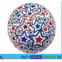 China Light Up Inflatable Beach Balls,PVC 16 Inch Beach Ball With Lively Printing wholesale