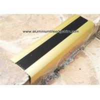 China TL30 Matt Gold Non Slip Aluminum Stair Splint With Rubber For Staircase Edge wholesale