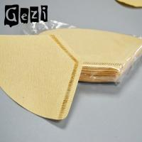 China 300mm Light Yellow Small Coffee Filters Wood Pulp ISO 9000 Custom Size wholesale