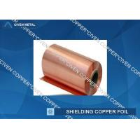 China Extraordinary strength Shielding copper foil sheet roll , Conductive Copper Foil wholesale