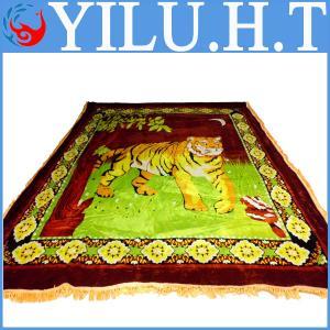 China 2014 hot sale flower velvet pleuche bedsheet blanket bed set wholesale